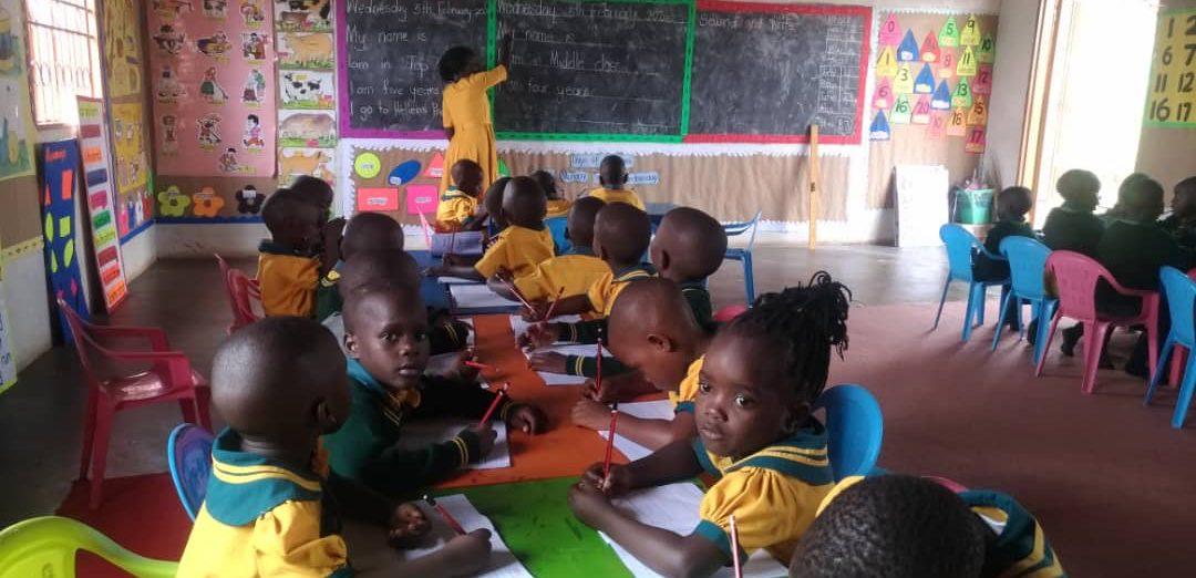 Staff teaching students