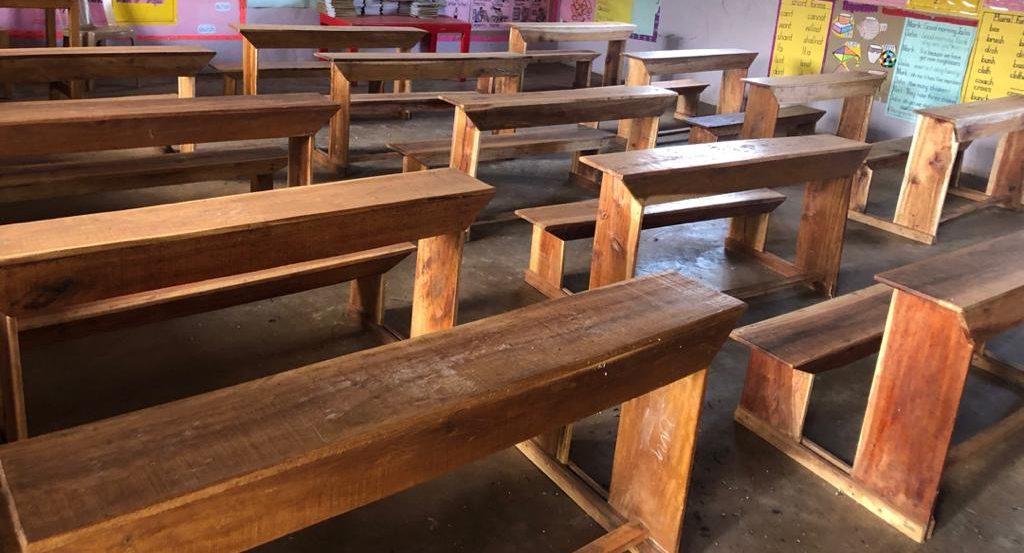 Desks donated by Uganda Rotary Club
