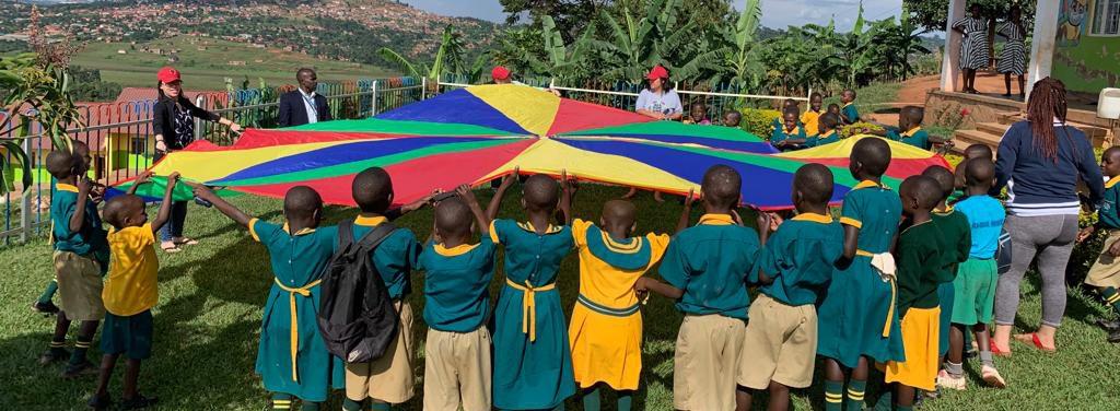 Kampala, Uganda CPC kids and donors playing