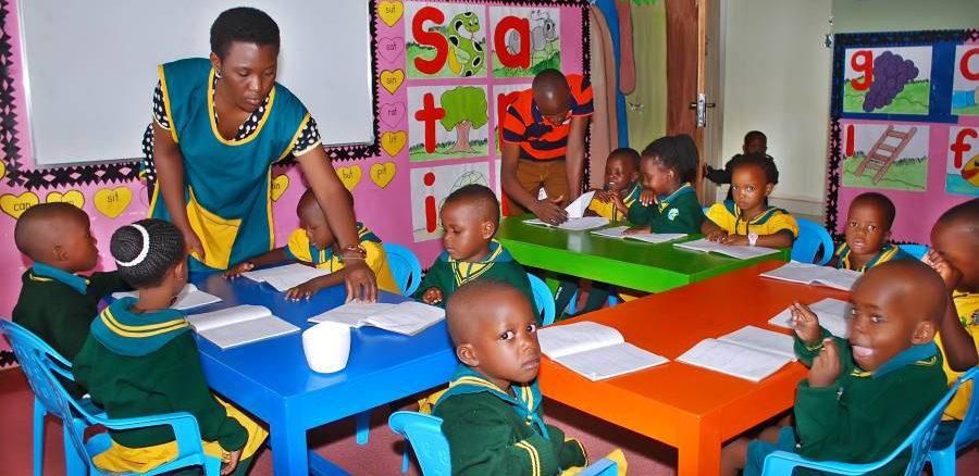 Kids inside classroom
