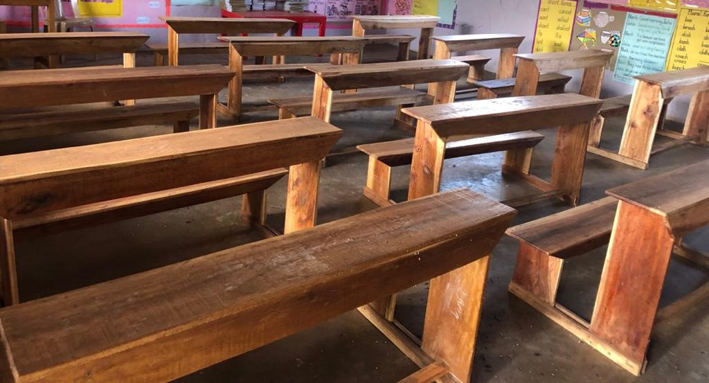 Desks donated by Uganda Rotary Club
