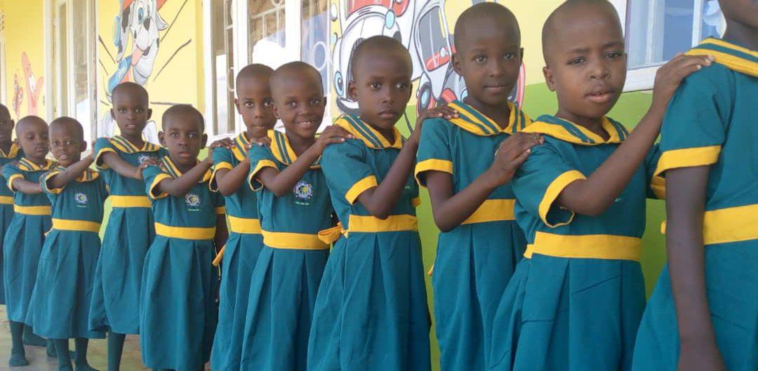 Kampala, Uganda CPC students standing in line