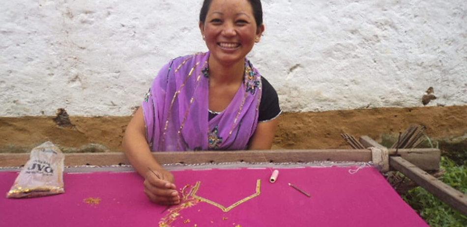 AFO Impact - Nepal - Sewing fabric