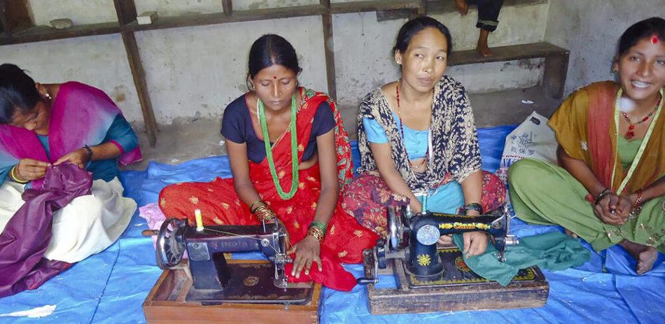 AFO Impact - Nepal - Multiple women sewing